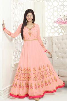 Alluring Pink Color Georgette Designer Function Wear Salwar Kameez