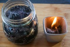 Recycled DIY Fire Starter   Make this easy DIY fire starter with lint and cooking oil.