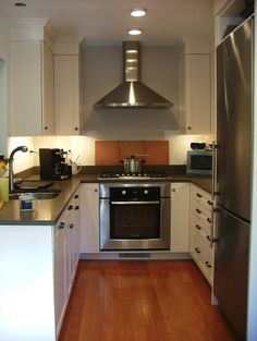 Very Small Kitchen Remodel saving space: 15 ways of mounting microwave in upper cabinets