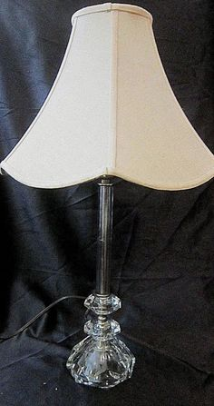 VINTAGE ANTIQUED BRONZE METAL TABLE LAMP w/Lily Pad Base and 2 Glass ...