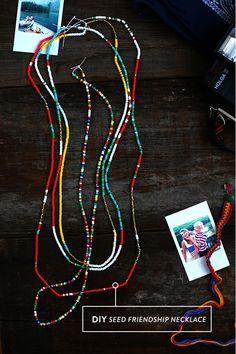 DIY Seed Friendship Necklace