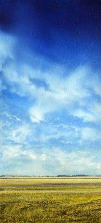 Blue Prairie Skies I by Ken Vincent, Acrylic on Panel, Painting | Koyman Galleries