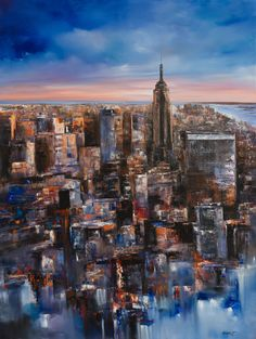 "New York City Skyline II by Mitchell Nick | $500 | 36""w x 48""h 