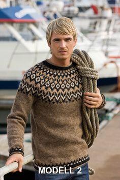 - Icelandic Riddari (Knight) Mens Wool Sweater Brown - Tailor Made - Nordic Store Icelandic Wool Sweaters - 1 pullover herren Riddari (Knight) Mens Wool Sweater Brown Knitting Kits, Fair Isle Knitting, Knitting Designs, Hand Knitting, Icelandic Sweaters, Wool Sweaters, Brown Sweater, Men Sweater, Tejido Fair Isle