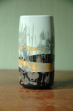 Royal Copenhagen Denmark Fajance Ceramic Vase Designed By Ivan Weiss - Danish Modern Abstract Art Pottery Vase. $68.00, via Etsy.