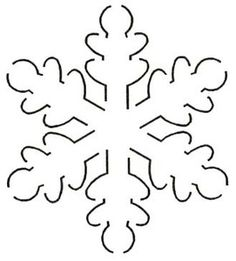 FREE Raw Edge Snowflake Applique | Sew- Applique! | Pinterest ... : snowflake quilting stencil - Adamdwight.com