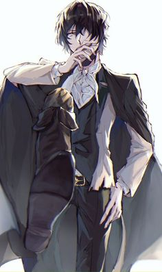Hei~ My name is Dazai! Manga Anime, Manga Boy, Anime Guys, Dazai Bungou Stray Dogs, Stray Dogs Anime, Bungou Stray Dogs Characters, Edgar Allan Poe, Cute Guys, My Idol