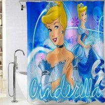 Disney Princess Tinkerbell Lavender Fabric Shower Curtain /& Hooks Set Campanita