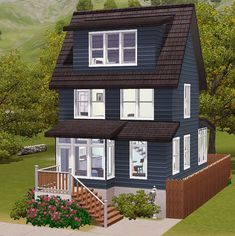 The Sims 3 - Cozy cottage perfect for University lots! Sims 3 Houses Ideas, Sims 4 Houses Layout, House Layouts, Sims Ideas, House Ideas, Sims 4 House Plans, Sims 4 House Building, Casas The Sims 3, Sims3 House