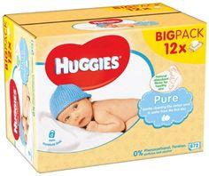 ¡Chollo! Pack 12 Paquetes de toallitas para bebe Huggies, 672 toallitas por 8.95 euros.
