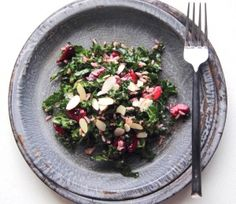 Black Cherry, Kale, and Brown Rice Salad