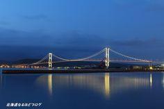 室蘭夜景 白鳥大橋