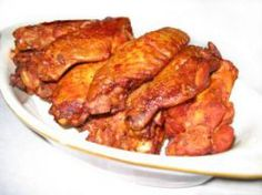 A favorite finger foods and appetizer of mine is chicken wings, especially hot wings. Usually chicken wings are fried, and while I love fried food,things can sometimes be made healthier and still taste great. These baked chicken wings fit the bill nicely.