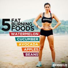 Help your body loose #calories with these fat-burning foods! #BigMusclesNutrition