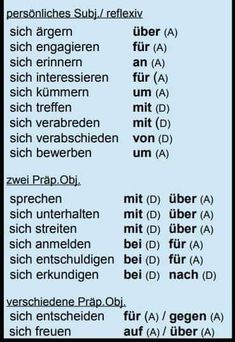 Study German, German English, German Grammar, German Words, German Language Learning, Language Study, Reflexive Verben, German Resources, Deutsch Language