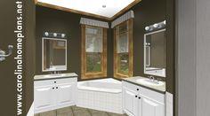 A luxurious master bath awaits - small house plan SG-981-AMS.