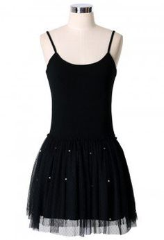 Pearl Ballet Tulle Dress in Black - Dress - Retro, Indie and Unique Fashion
