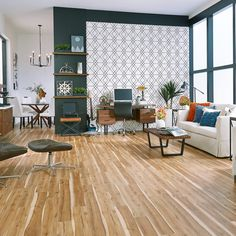 6mm+pad Rocky Hill Hickory Rigid Vinyl Plank Flooring Engineered Vinyl Plank, Vinyl Plank Flooring, Rocky Hill, Stair Nosing, Baseboards, Home Remodeling, Living Room, Table, House