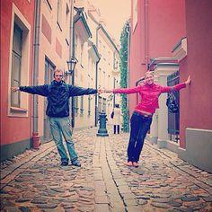 Narrow streets of Old Riga.