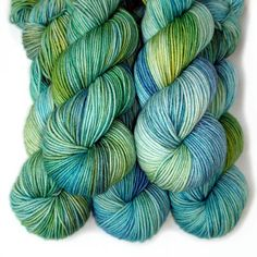 Cable Sport SW Merino Yarn  Water Meadow 270 yards by JulieSpins, $26.00