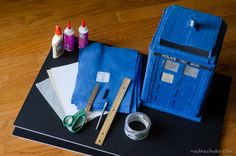 TARDIS card box....I need to find someone who is crafty enough to make this for us....@Trista Loucks