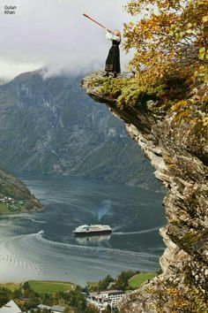 Awesome view of Geirangerfjord Island Norway