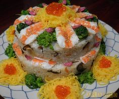 Just realized that this should totally be josh's groom's cake! sushi cake Japanese food