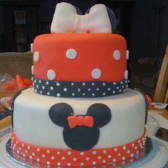 Mini mouse birthday cake.