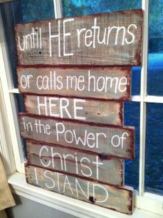 Pallet Art - Bible Verse Series. $50.00, via Etsy.