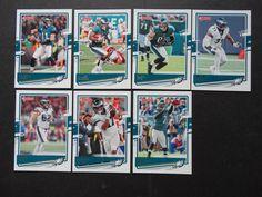 2020 Donruss Philadelphia Eagles Veterans Base Team Set of 7 Football Cards #PhiladelphiaEagles