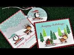 Lawn Fawn Toboggan Together Stamps