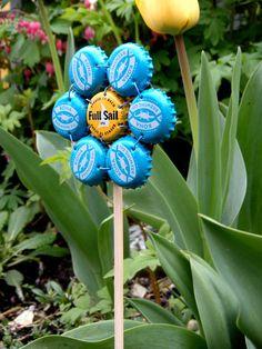 newcastle in new belgium  garden art flowers by artinredwagons, $8.00