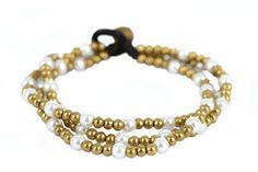 Bracelet perles Chic Bijoux Diy, Beaded Bracelets, Bracelet Or, Chic, Jewelry, Simple, Html, Design, Fashion