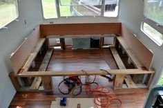 Building a Queen Bed into the 1978 Airstream Sovereign Land Yacht.