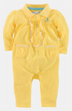 Ralph Lauren Mesh Coveralls (Infant) available at Nordstrom