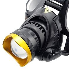 WindFire USB Headlamp CREE 2000Lm XML T6 L2 3 Modes Headlamp Outdoor Lighting Head Lights Zoomable Support Connect Power Bank 3xAAA 3xAA18650 Rechargeable Headlight Bicycle Light with AC Charger and USB Interface for Charging CellPhones Tablet * Check out the image by visiting the link.