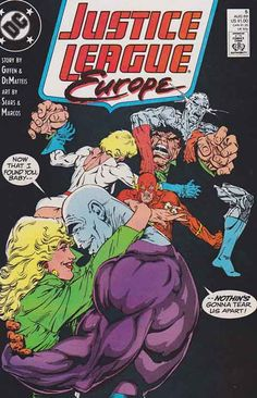 Justice League Europe #5 (1989) Bart Sears Cover & Pencils, J.M. DeMatteis & Keith Giffen Story Rare Comic Books, Comic Books For Sale, Comic Book Covers, Justice League Pictures, Comic Book Publishers, Dc Comics Heroes, Comic Book Collection, Dc Characters, American Comics