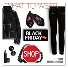 """""""Black Friday"""" by depolo-marina ❤ liked on Polyvore featuring Chicwish, Paige Denim, Tabitha Simmons, Moschino, Burberry, NARS Cosmetics and shoptilyoudrop"""