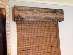 Custom Made Window Valance Rustic Wood Curtain Valance