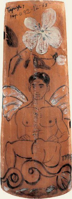 Τσαρούχης Γιάννης-Τρίτων, 22-12-65 – Yannis Tsarouchis [1910-1989]   paletaart – Χρώμα & Φώς Greek Paintings, Queer Art, Caravaggio, Gay Art, Portraits, Vulnerability, Graffiti, Vintage World Maps, Sculpture