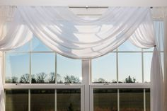 Scarf valances are one of the easiest types to incorporate into your room. Plus, they add great texture without blocking any light or views. Use it to add color or select a cream or white valance to soften your windows.