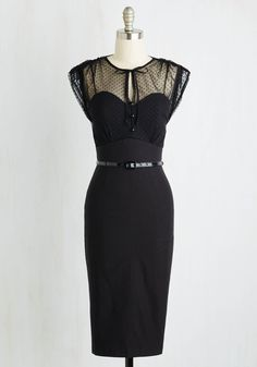 Film Noir Fatale Dress in Black, @ModCloth