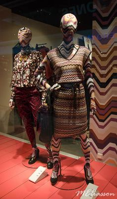 "MISSONI/LINDEX at Gallerian Mall, Stockholm, Sweden, ""Dressing well is about mastering composition"", pinned by Ton van der Veer"