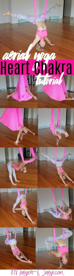 Aerial Yoga Heart Chakra Tutorial - Margie Pargie