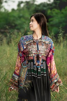 Vintage Embroidered Gypsy Bohemian Kutchi Dress