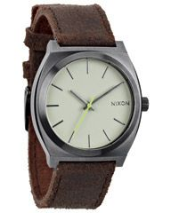 NIXON THE TIME TELLER WATCH - GUNMETAL BROWN on http://www.surfstitch.com