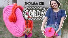 DIY: BOLSA DE CORDA! Linda e fácil! #1 | Paula Stephânia - YouTube