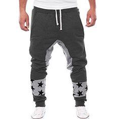 PHOTNO Men's leisure harem pants Tight Pant Underwear Leggings (XL, Dark Gray) *** Want additional info? Click on the image.