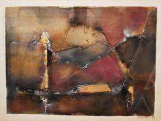 """""""El tiempo recobrado"""" - Heriberto Zorrilla - Tintas y lápiz de color sobre papel, 28 x 38 cm, 1992 www.esencialismo.com"""