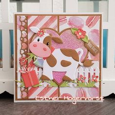 Marianne Design Cards, Elizabeth Craft, 3d Cards, Paper Piecing, Making Ideas, Birthday Cards, Cow, Card Making, Cricut